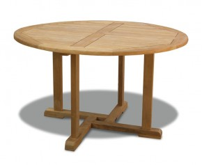 Canfield Teak Outdoor Round Table - 130cm - 2 Seater Dining Tables