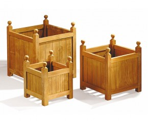 Teak Garden Versailles Planter Set - S, M & L - Garden Accessories