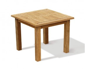 Balmoral Teak Chunky Square Garden 3ft Table - 2 Seater Dining Tables