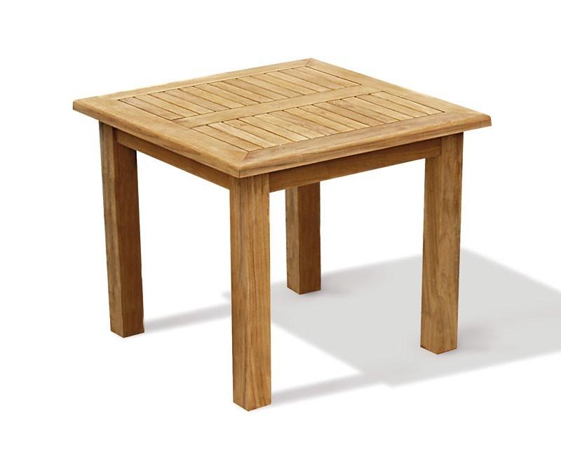 Garden tables gt balmoral teak chunky square garden 3ft table