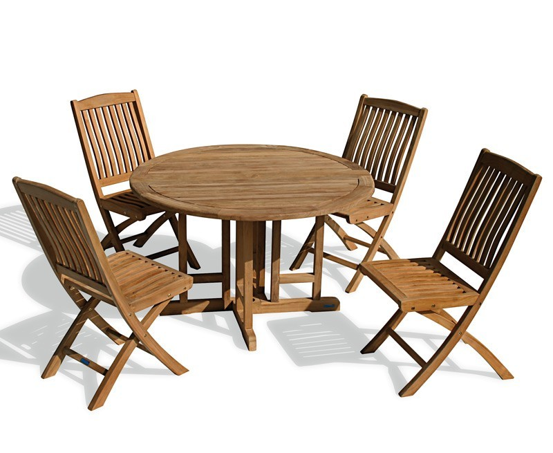 Exceptional Gateleg Table With Folding Chairs #2: Round-garden-gateleg-table-and-chairs-set-outdoor-patio-drop-leaf-table-and-folding-chairs.jpg