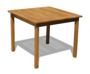 Sandringham Square Teak Outdoor 3ft Table - 2 Seater Dining Tables