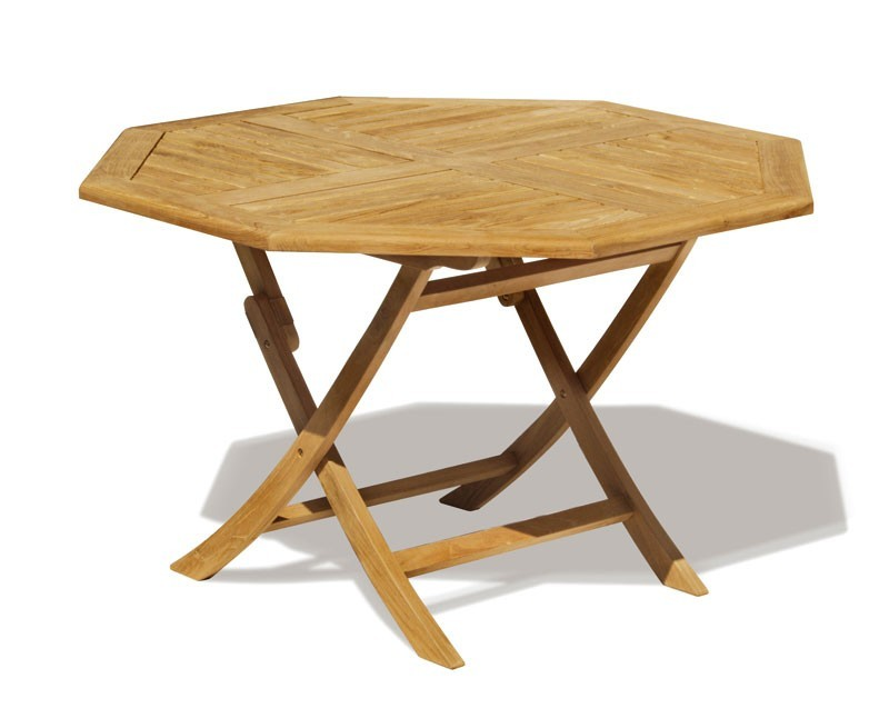 Suffolk Teak 8 Seat Octagonal Folding Table And Stackable