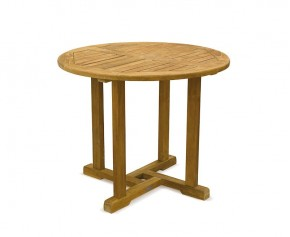 Canfield Round Wooden Dining Table - 90cm - 2 Seater Dining Tables
