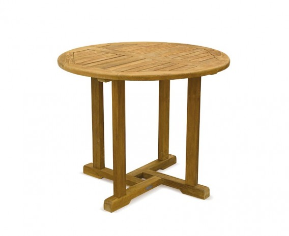 Canfield Round Wooden Dining Table - 90cm