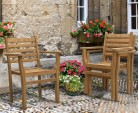 Yale Teak Outdoor Dining Set With 8 Stacking Chairs