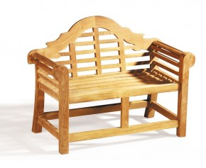 Teak Lutyens Children's Garden Bench - Curved Garden Benches