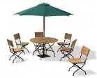 Garden Folding Bistro Dining Table and Chairs - Outdoor Patio Bistro Set