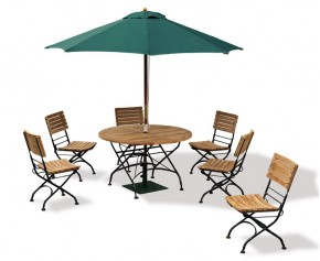 Garden Folding Bistro Dining Table and Chairs - Outdoor Patio Bistro Set - Medium Dining Sets