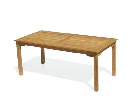 Sandringham Teak 6ft Outdoor Rectangular Dining Table Oblong Garden Table
