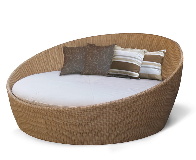 Rattan Daybed Canopy : Oyster wicker rattan daybed with canopy
