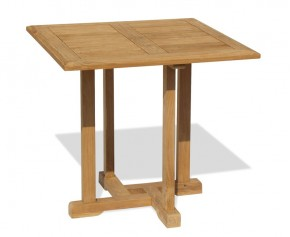 Canfield Teak Square Garden Table - 80cm - Square Tables