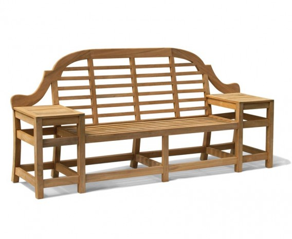 Cheltenham Teak Decorative Bench - 2.27m