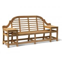 Cheltenham Teak Decorative Bench - 2.27m