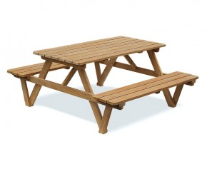 5ft Teak Picnic Bench - Medium Garden Benches