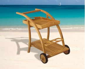 Rimini Teak Drinks Trolley - Serving Trolleys
