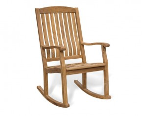 Garden Rocking Chair - Teak Outdoor Patio Rocker - Teak Garden Chairs