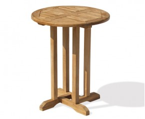 Canfield Bistro Round Teak Garden Table - 60 - Garden Tables