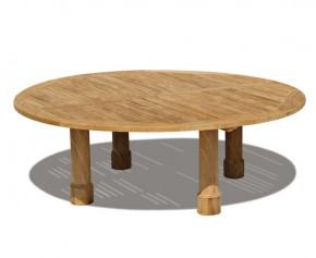 Titan Teak Round Outdoor Table - 2.2m - 8 Seater Dining Tables