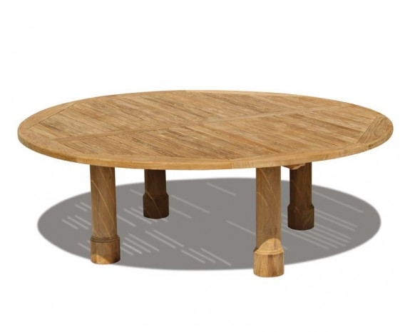 Titan Teak Round Outdoor Table - 2.2m