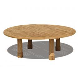 Titan Teak Round Outdoor Table - 2.2m