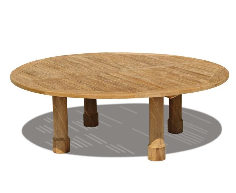 Titan teak round outdoor table for Round teak outdoor table