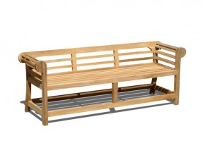 Low Back Teak Lutyens-Style Bench - 1.95m