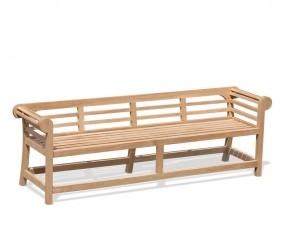 Low Back Teak Lutyens-Style Bench - 2.25m