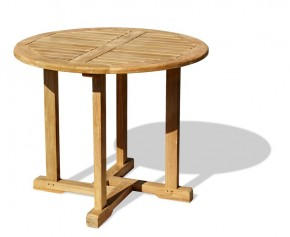 Canfield Teak Round Garden Table - 80cm - Fixed Tables