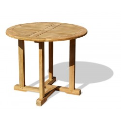 Canfield Teak Round Garden Table - 80cm