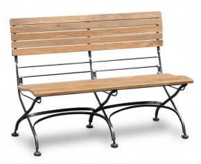 Bistro Garden Bench - 1.2m without Arms