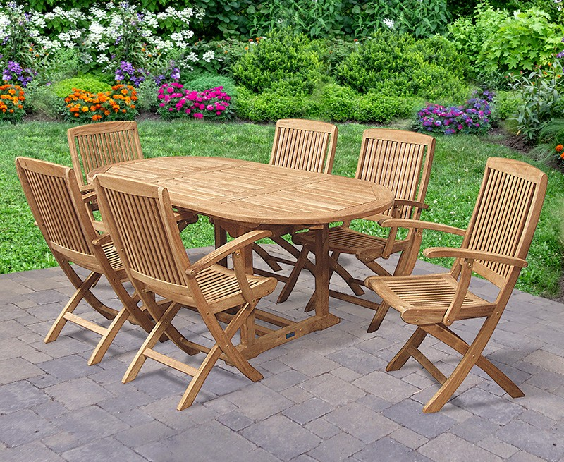 Bijou Expandable Dining Table Set With Folding Armchairs