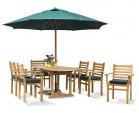 Yale 6 Seat Teak Dining Set