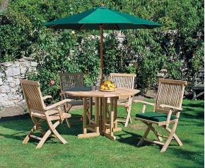 Berrington Garden Octagonal Table and Brompton Armchairs - Octagonal Table
