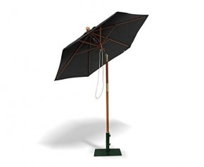 2m Tilting Garden Parasol, Black – To Clear