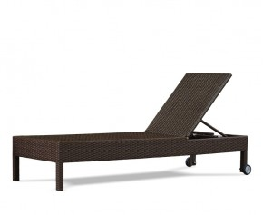 Rio Rattan Reclining Sun Lounger with Wheels