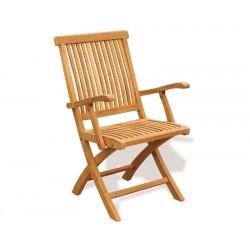 Brompton Teak Folding Armchair