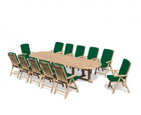Hilgrove 12 Seater Teak Dining Set 4 - Hilgrove Dining Set