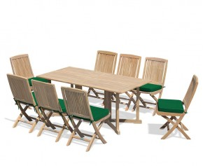 Shelley 8 Seater Teak Folding Set with Rimini Chairs - Shelley Dining Sets