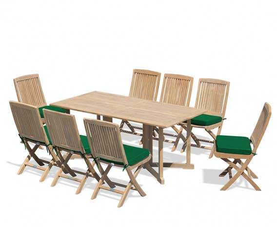 Shelley 8 Seater Teak Folding Set with Rimini Chairs