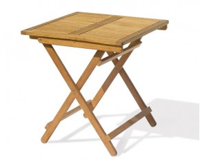 Rimini Teak Square Folding Garden Table - Folding Garden Tables