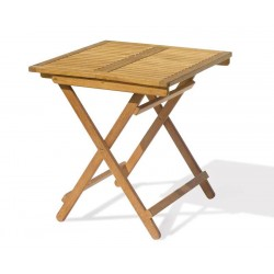 Rimini Teak Square Folding Garden Table