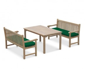Sandringham 1.5m Teak Garden Table and Bench Set - Windsor Dining Set