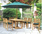 Yale 6 Seater Teak Garden Table and Stacking Chairs Set