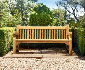 Balmoral Park Bench - 6ft Teak Street Bench - 1.8m - School Benches