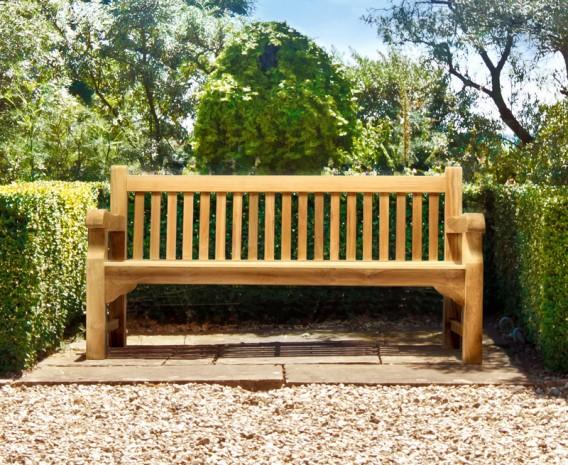 Balmoral Park Bench - 6ft Teak Street Bench - 1.8m