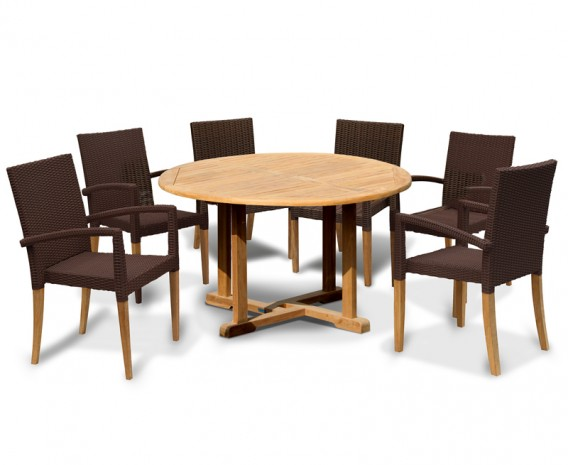 St Tropez Rattan 6 Seater Dining Set