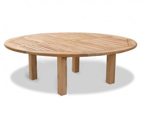 Titan Teak Round Outdoor Table - 2.2m - 10 Seater Dining Tables