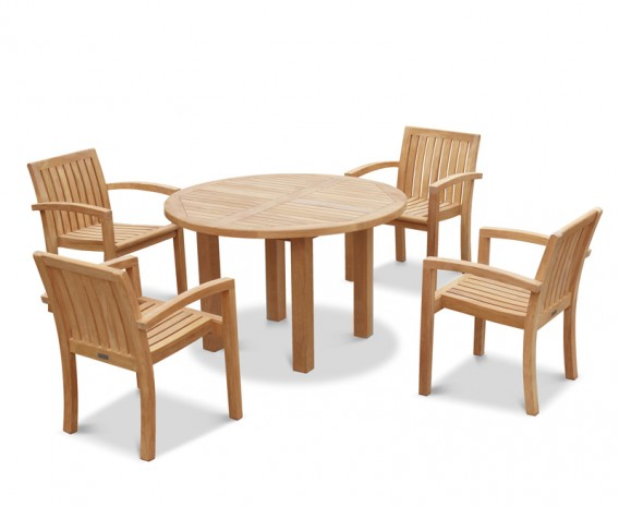 Titan Teak Garden Table and 6 Chairs