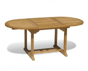 Brompton Narrow Teak Extendable Outdoor Dining Table 120cm - 180cm - Large Tables